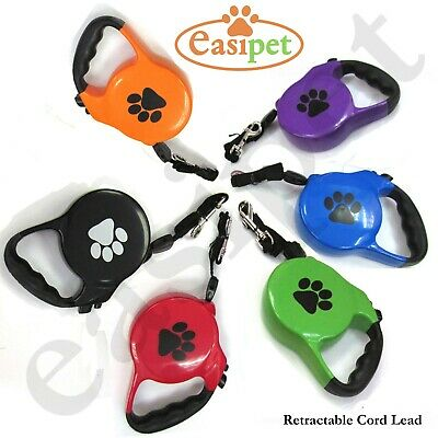 Retractable Dog Pet Lead Training Leash 8m Long Max 50kgs Extendable Easipet