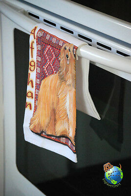 Afghan Hound Kitchen Hand Towel