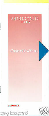 Motorcycle Brochure - Honda - Product Line Overview - 1989  (DC376) - S