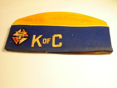 Vintage Grand Knight Fray Garces 1956-57 Knights of Columbus hat