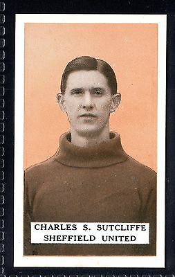 B.A.T. FAMOUS FOOTBALLERS-SET 3-1925 CHARLES S. SUTCLIFFE-SHEFFIELD UNITED No.13