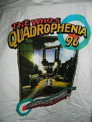 VTG THE WHO Quadrophenia USA TOUR 1996 Double Side T-Shirt Adult Size Large L