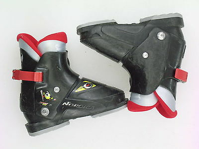 Used Nordica Super 0.1 Rear Entry Ski Boots Kid's Size 3