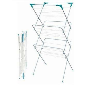 3 Tier Washing Clothes Horse Line Indoor Airer Hanger Dryer Folding Stand