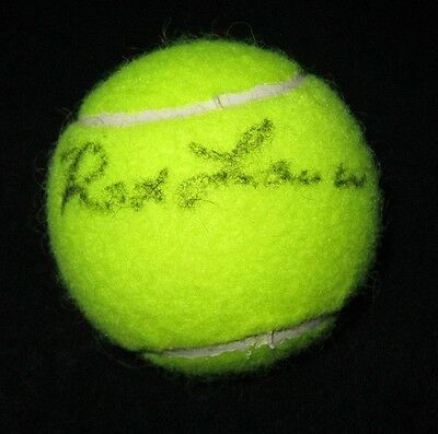 Rod Laver Signed Tennis Ball Wimbledon Grand Slam Hof Jsa Coa