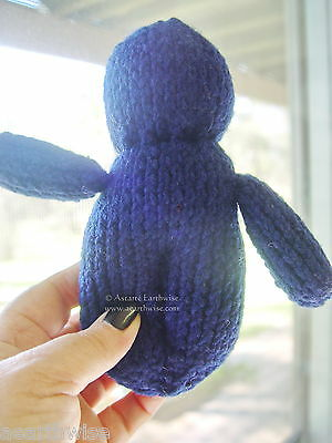 POPPET DOLL - VOODOO DOLL DARK BLUE Spell Wicca Hoodoo Pagan Witch Goth CALMNESS