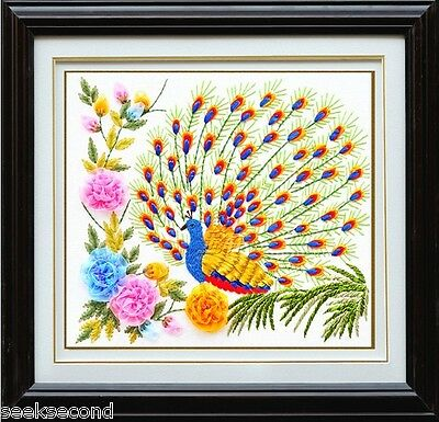 Embroidery Kit Peacock 50x50cm RE1008