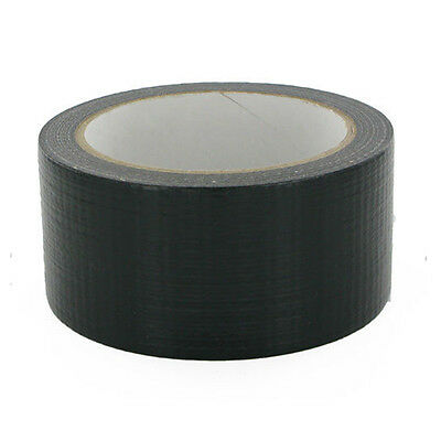 "BLACK Duck Duct Gaffa Gaffer Waterproof Cloth Tape 48mm 2""x50m New Reliable d867"