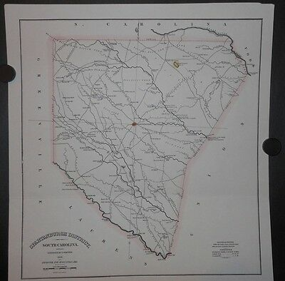 Spartanburg County South Carolina 1820 Map Reprint