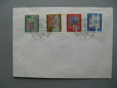 GERMANY BRD, cover FDC 1963, flowers orchid