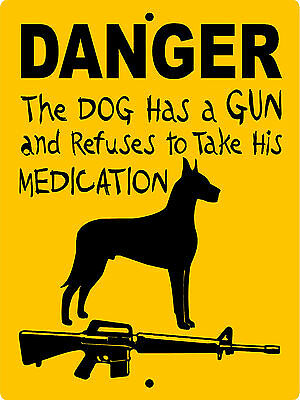 "GREAT DANE DOG SIGN,9""x12"" ALUMINUM, VINYL GRAPHICS,Guard Dog Sign, DANGGD"