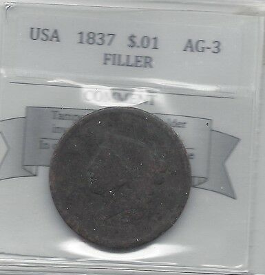 **1837** USA, Large One Cent