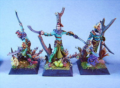 Confrontation painted miniature Elves (Devourer allies) (3)