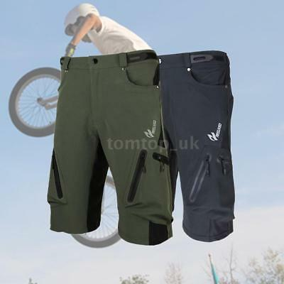 Men's Cycling Mountain Bike Bicycle Baggy Shorts Pants Zippered Pockets