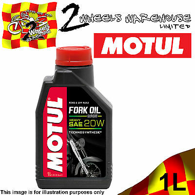 1x 1L LITRE MOTUL MOTORCYCLE FORK OIL EXPERT HEAVY 20W MOTOR BIKE RACE TRACKDAY