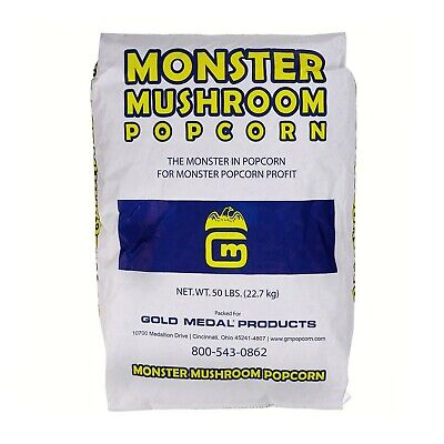 Gold Medal Raw Popping Corn Monster Mushroom Popcorn Kernels Seeds 22kg