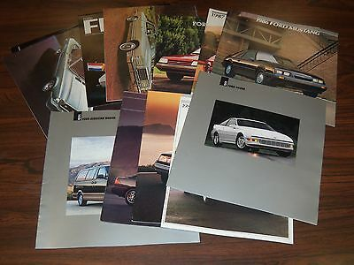 1970S-1990S Ford Brochure Lot Of 13 - Automobile Literature - Fiesta - Lm 199