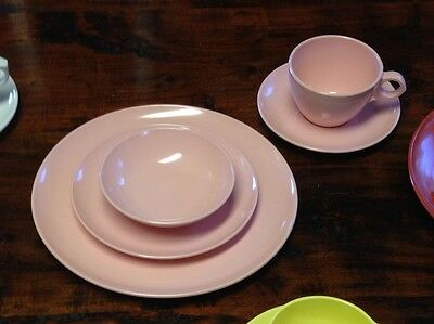 Vintage Windsor Melmac Pink Place Setting Made in U.S.A