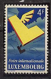 LUXEMBOURG STAMP MI#524 Sc#299 MLH  EXPOSITION MAP
