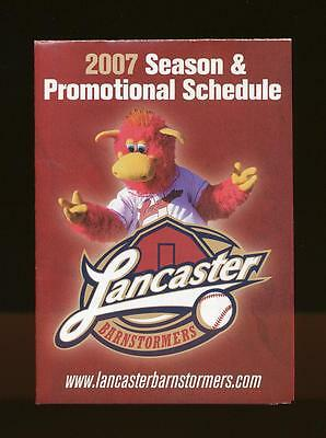 2007  LANCASTER BARNSTORMERS POCKET SCHEDULE---SEE SCAN FOR CONDITION