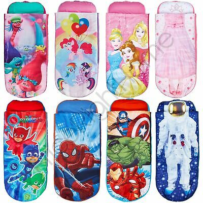Kids Ready Bed Inflatable Air Beds Camping Sleepovers Disney Character & More