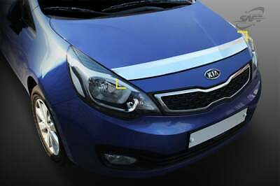 For Kia Rio 2012 - 2016 Chrome Hood Bonnet Guard Protector Set