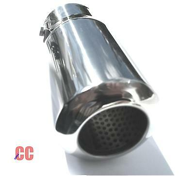 Car van chrome tail pipe Exhaust box Tip Extension Pipe Trim cover large round