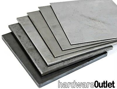 Mild Steel Sheet Metal .9 1.2 1.5 2.0 3.0 mm Thick Guillotine Cut - Folder Press