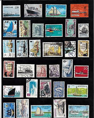 BOATS SHIPS Thematic STAMP COLLECTION Used Ref:TH181