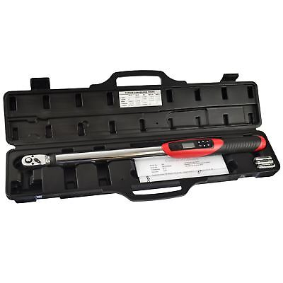 """1/2"""" Digital Electronic Torque Wrench 20 - 200nm Calibrated US Pro AT543"""