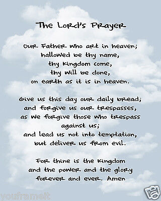 The Lords Prayer / Christian - Christianity 8 x 10 GLOSSY Photo Picture