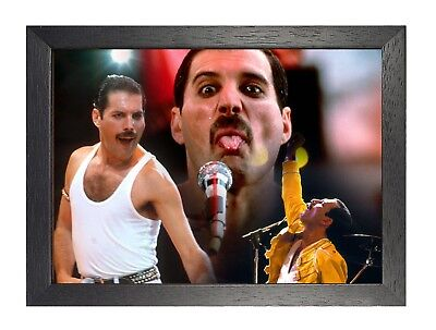 Queen 2 Freddie Mercury Photo Rock Band Legend Picture Vintage Music Poster