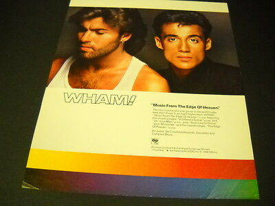 WHAM! make MUSIC FROM THE EDGE OF HEAVEN 1986 Promo Poster Ad