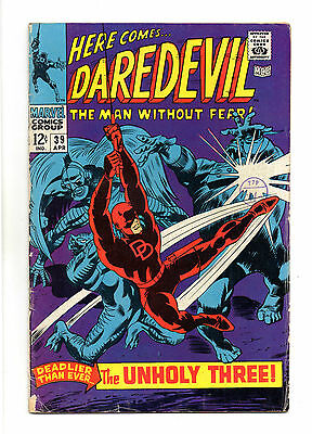 Daredevil Vol 1 No 39  Apr 1968 (VG+)Marvel,Cents Copy, Silver Age (1956 - 1969)
