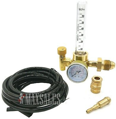 New Argon CO2 Mig Tig Flow meter Regulator w/ Hose 4 Gas Welding Weld Machine