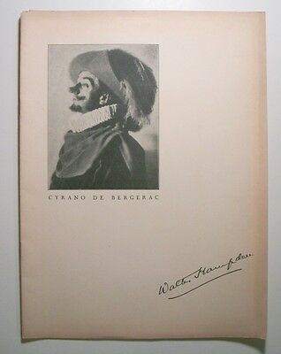 Circa 1930's Walter Hampden as Cyrano de Bergerac souvenir program