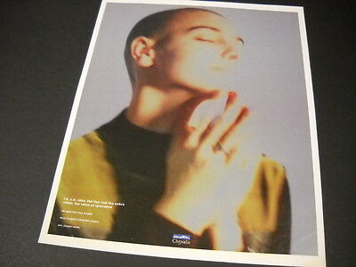 SINEAD O'CONNOR sensational 1989 PROMO POSTER AD eyes closed - hand raising