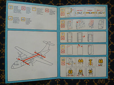 Tuninter-Atr 72-Safety Instructions-Consegne Di Sicurezza-Tunisair Express-