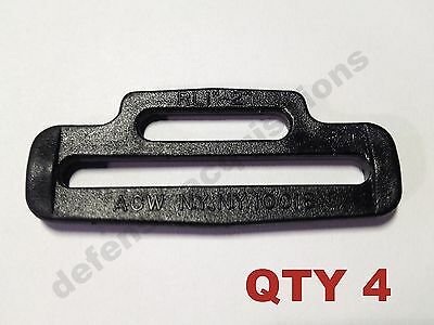 "4 (FOUR) Webbing Reducer Looplocks 2"" to 1""  Tactical Sling Hardware BLK"