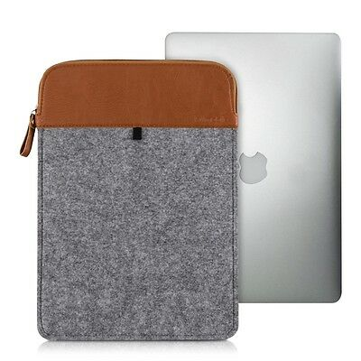 "kwmobile Laptop Sleeve Filz Grau für Apple Macbook Air 13"" (Ab Mitte 2011) 13,3"