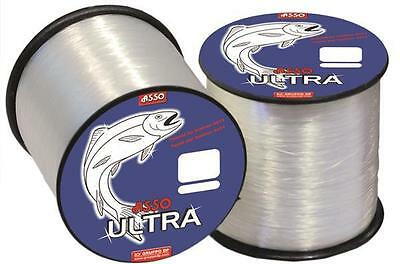 ASSO Ultra Soft Fluorocarbon Coated Fishing Line - 4oz Spool - All Sizes