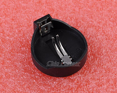 10PCS CR2025 CR2032 Button Coin Cell Battery Socket Holder Case Black
