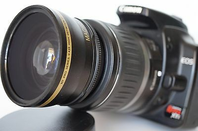 Wide Angle Macro Lens for Canon Eos Digital Rebel 58mm sl1 XTi w/18-55 55-200mm