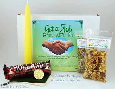 GET A JOB RITUAL SPELL KIT Wicca Pagan Witch Goth FIND WORK AND OPPORTUNITIES