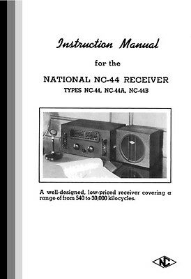 National NC-44, NC-44A, NC-44B manual w/ three foldout schematics »R²