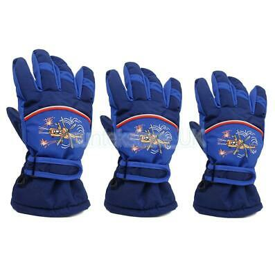 Winter 4-10 Years Old Kids Skating Skiing Snow Waterproof Warm Gloves Mittens
