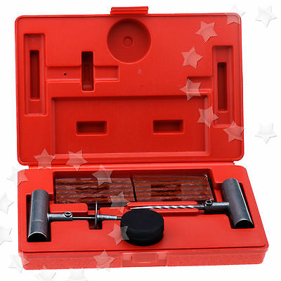 35Pcs Tubeless Tyre Repair Kit Hand Tools Vehicle Wheel Tires Puncture W/case