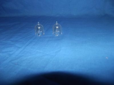 "Marx original mint clear plastic helmets for 4"" astronauts  (2)"