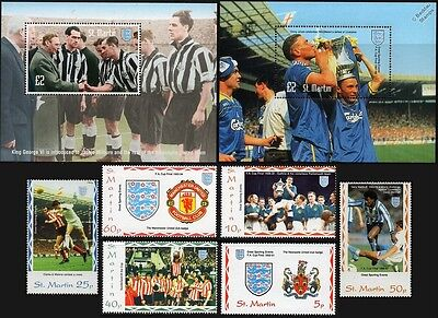 1995 St.Martin's Island - FA Cup Football Stamp Set (GB Locals/Sporting Events)