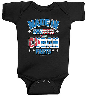 Threadrock Baby Made in America with Cuban Parts Infant Bodysuit Cuba Pride